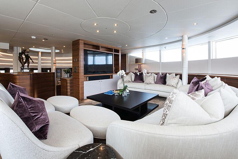 Lady A yacht saloon