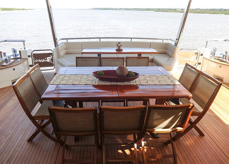 Biscari yacht aft deck