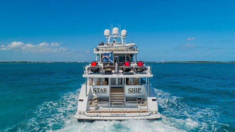 Starship yacht cruising