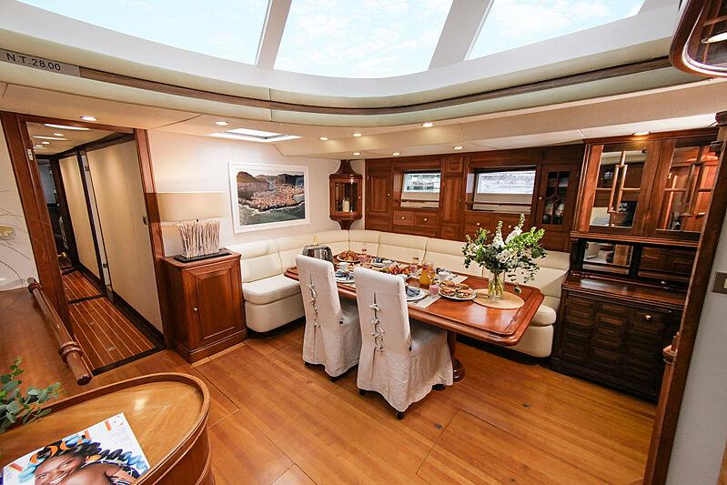 Elton yacht dining