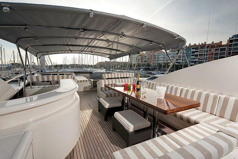 Sun Shine 1 yacht upper deck