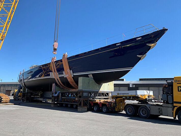 Christopher yacht out of refit at Baltic yachts