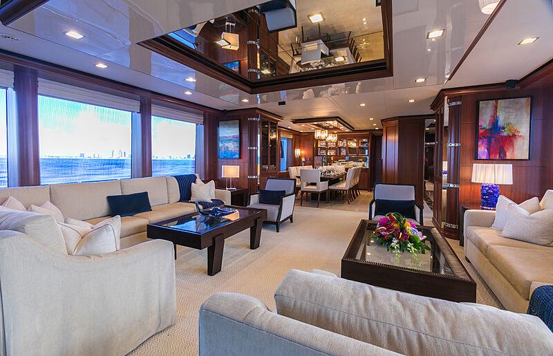 My Aurora yacht main saloon
