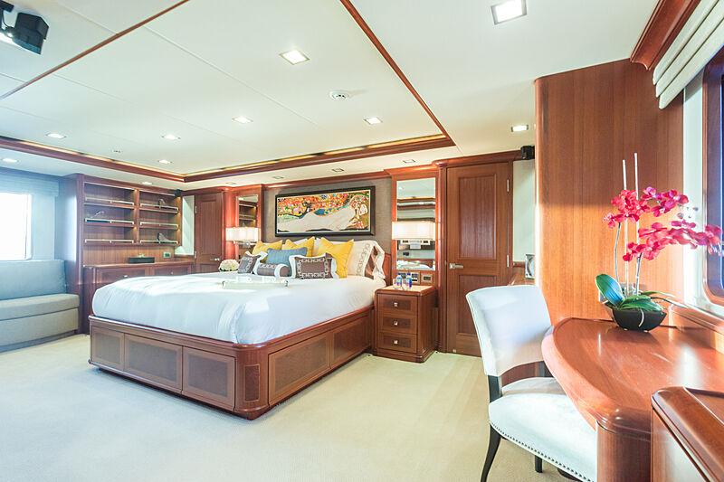 My Aurora yacht master's cabin