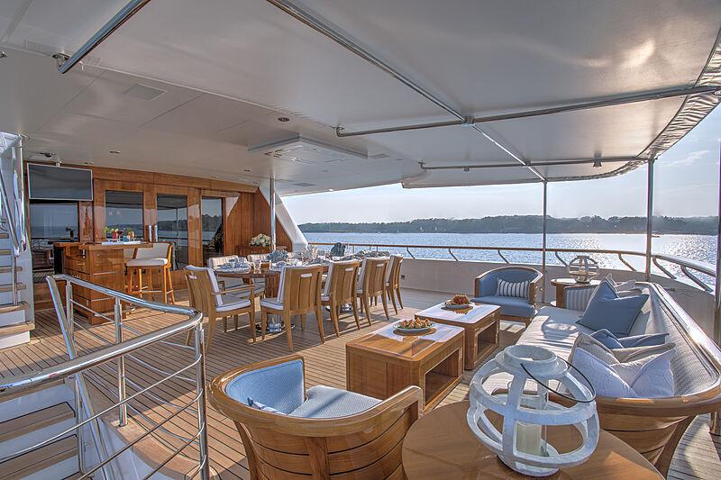 Cynthia yacht upper aft deck