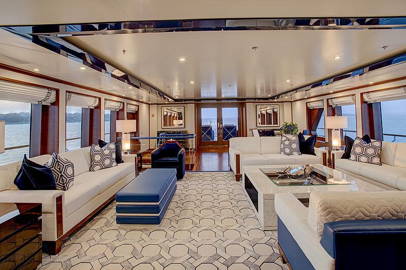 Cynthia yacht main saloon