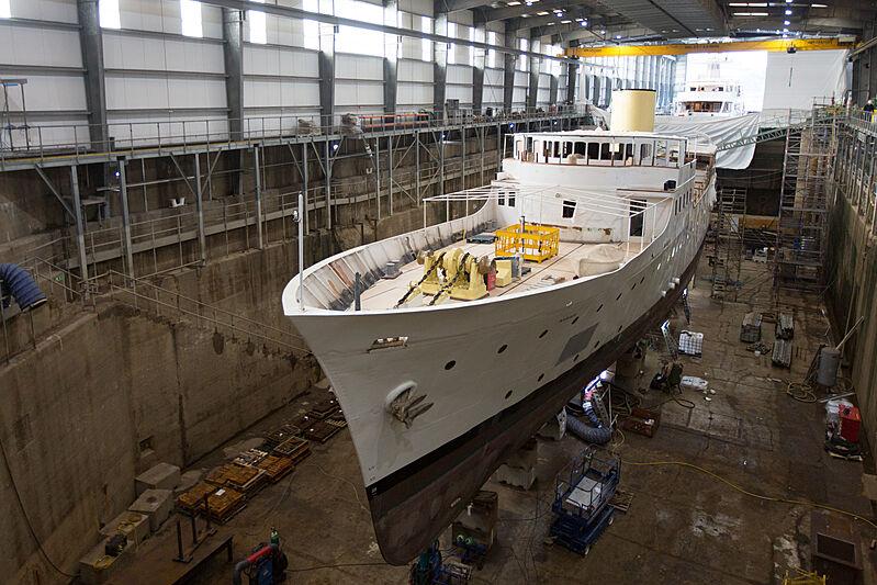 Marala yacht refit at Pendennis