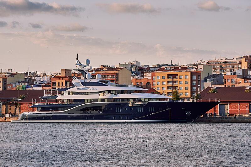 Solandge yacht by Lürssen in Tarragona, Spain