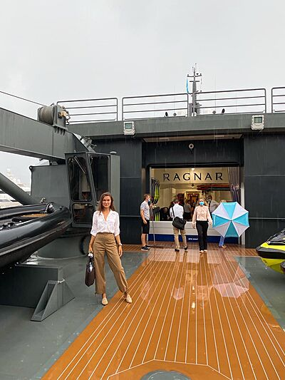 Julia Skoptsova on board Ragnar
