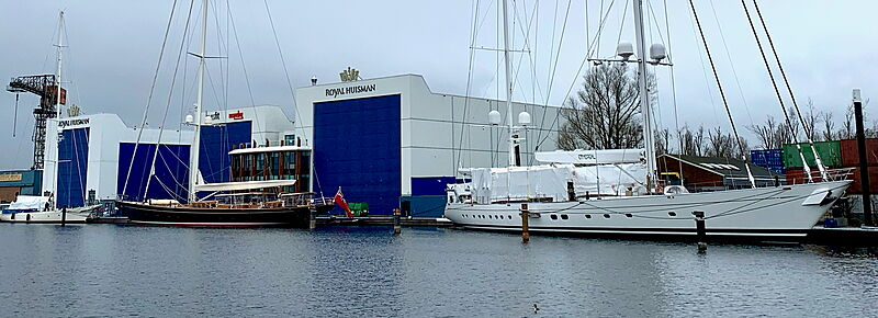 Wisp and Ethereal yachts in refit at Huisfit Amsterdam