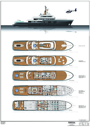 Project Phoenix yacht general arrangement