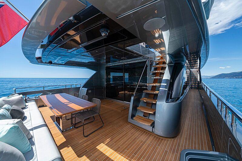 Unknown yacht deck