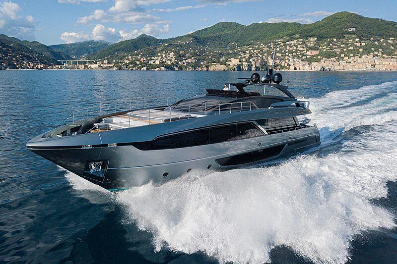 Unknown yacht cruising