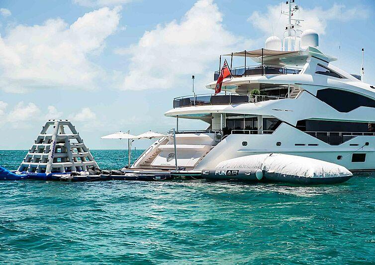 TC yacht at anchor