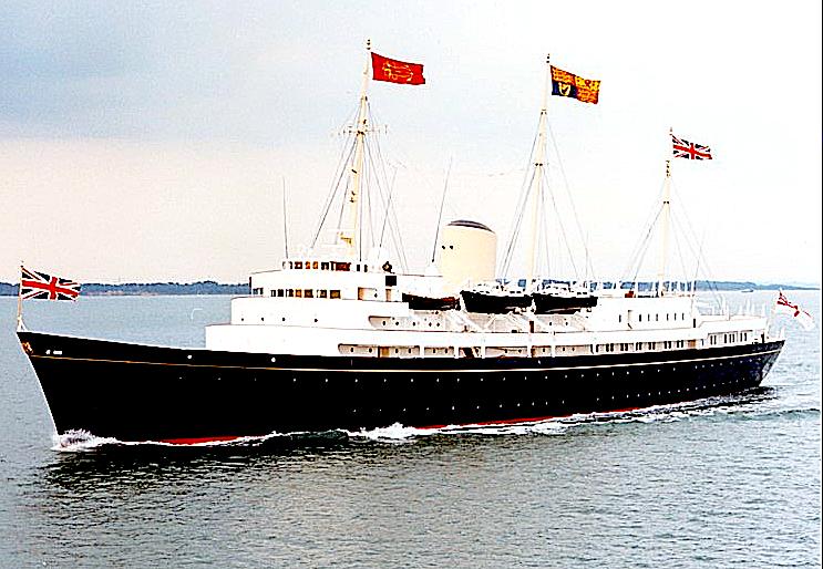 Her Majesty's Yacht Britannia cruising
