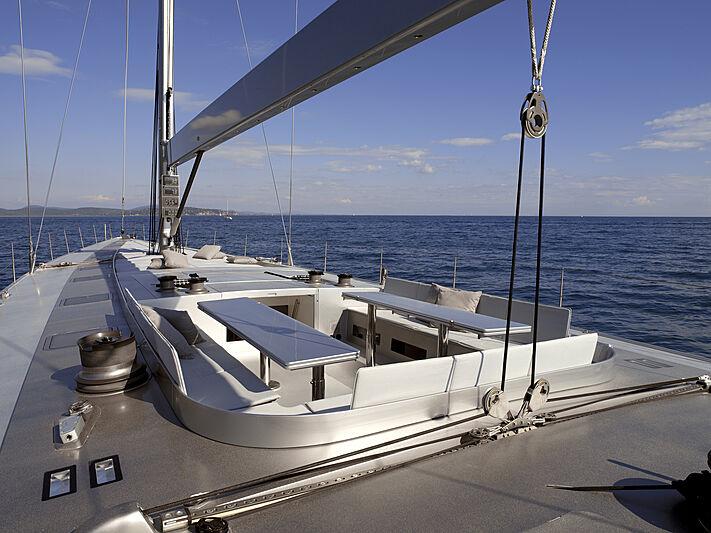 Roma yacht foredeck