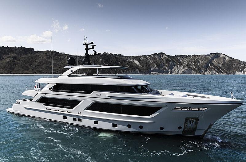 RJ yacht anchored