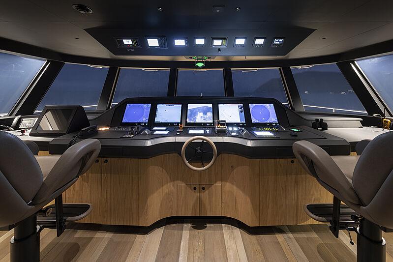 RJ yacht wheelhouse