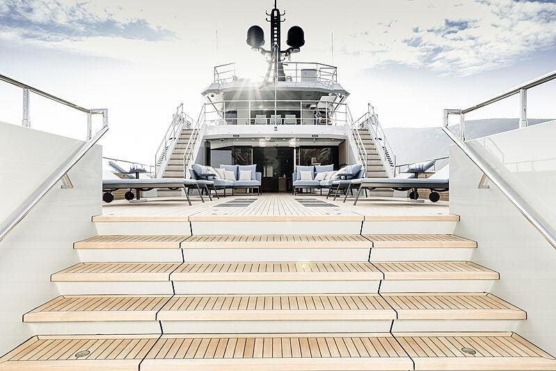 Aurelia yacht aft deck