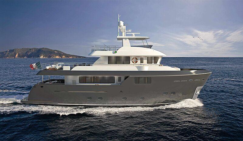 CdM Darwin 86 yacht rendering