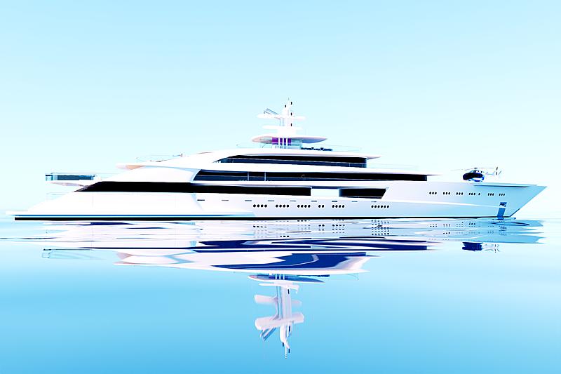 Project Wave yacht concept exterior design