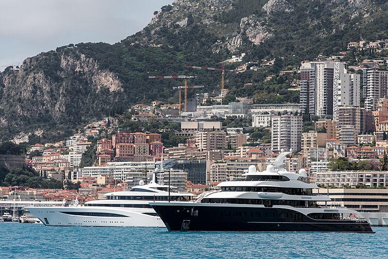 Faith and Symphony yachts in Monaco