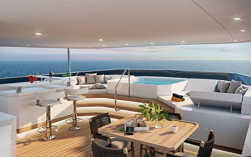 Seven Seas yacht exterior design