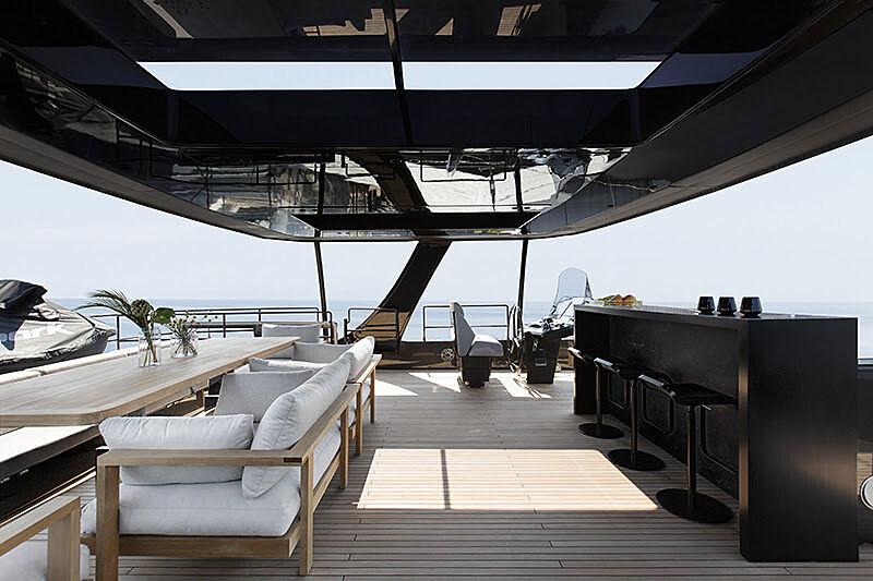 Grayone yacht upper deck