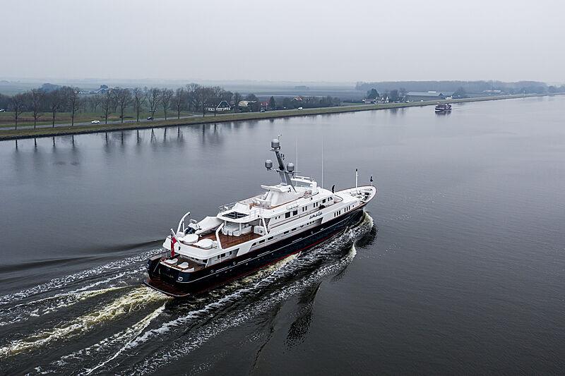Amara yacht cruising in the North Sea