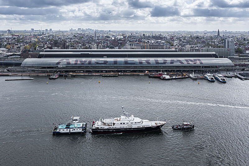 Amara yacht cruising in Amsterdam