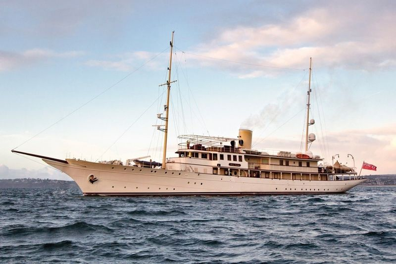 Dona Amelia after a refit at Pendennis