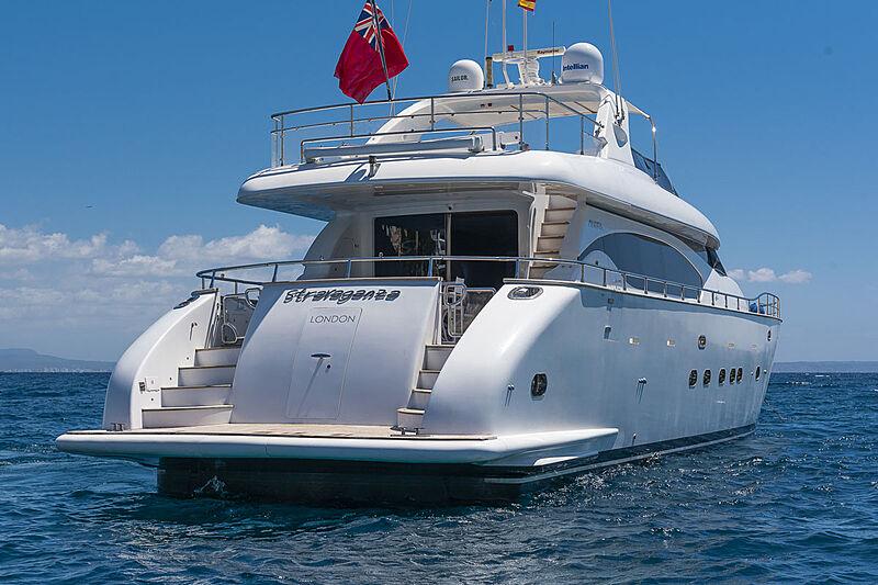 Stravaganza yacht stern