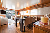 Stravaganza yacht dining