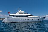 Stravaganza yacht anchored