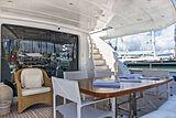 Stravaganza yacht aft deck