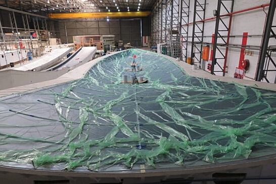 Nyumba yacht hull under construction at SWS Cape Town