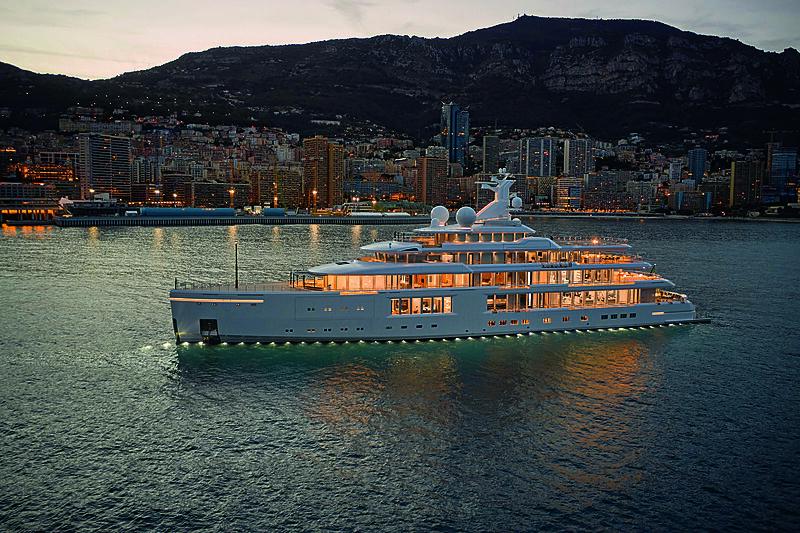 Luminosity yacht anchored off Monaco