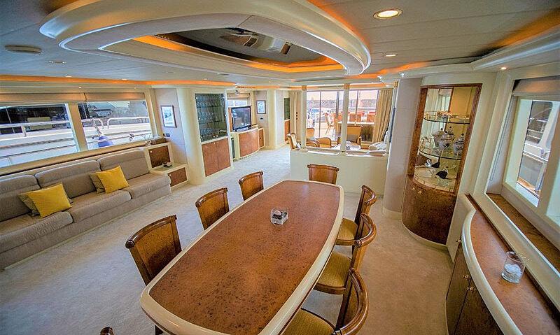 Mabruk III yacht living room