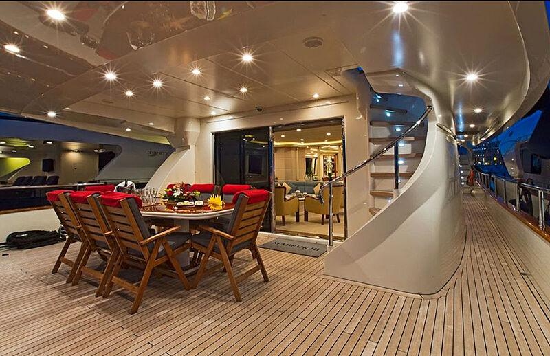 Mabruk III yacht aft deck