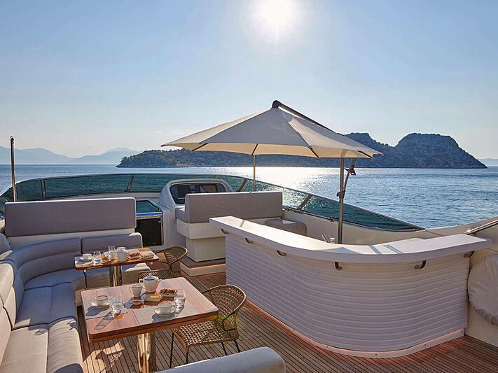 Mamma Mia yacht sun deck