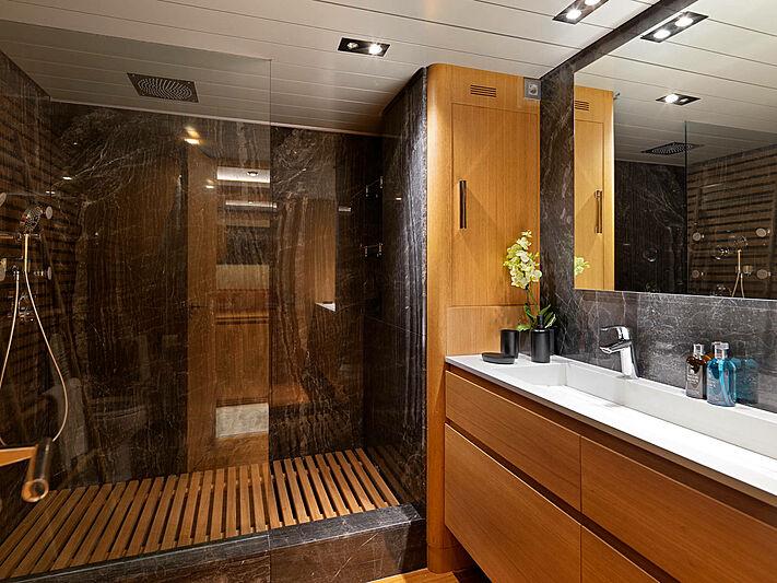 Mamma Mia yacht bathroom