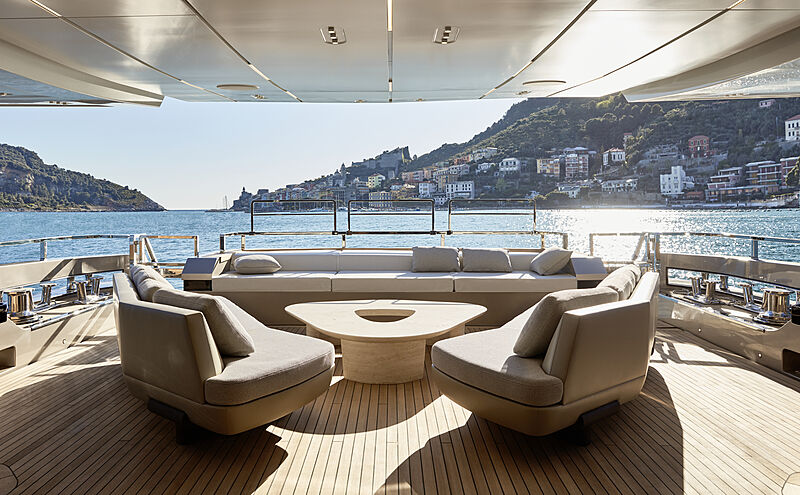 Annabella yacht main aft deck