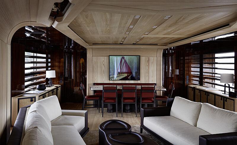 Annabella yacht main saloon
