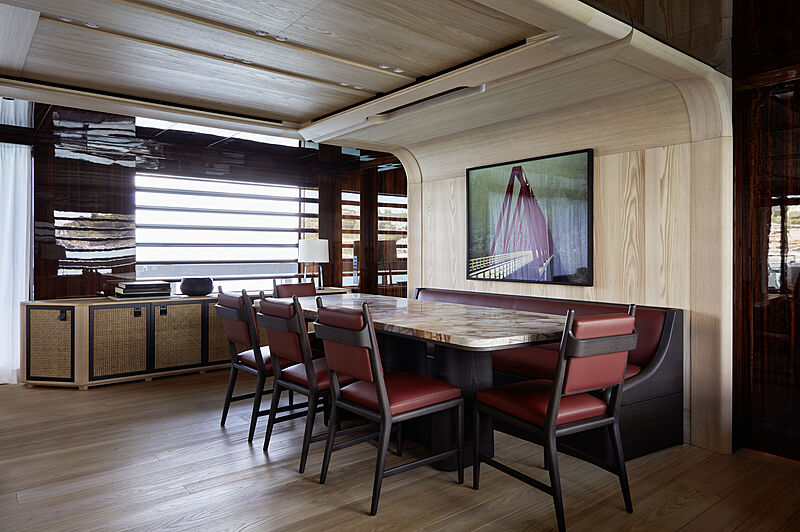 Annabella yacht dining space