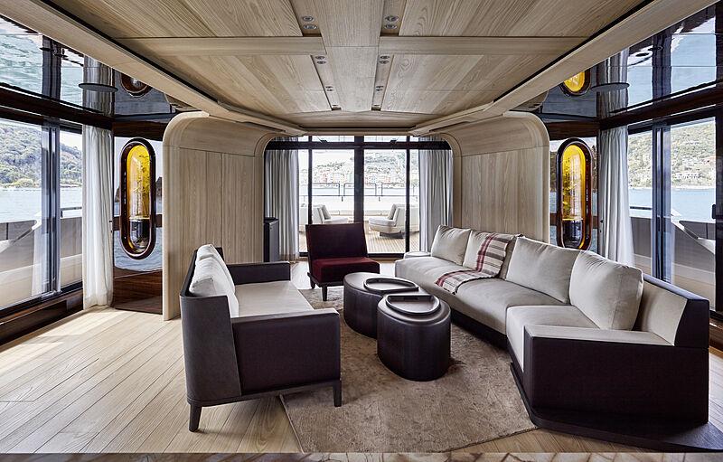 Annabella yacht upper deck saloon