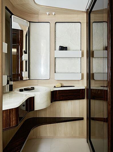 Annabella yacht VIP bathroom