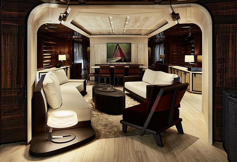 Annabella yacht saloon