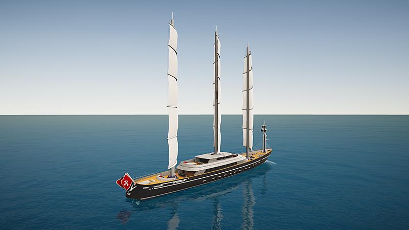 Maltese Falcon yacht Perini Navi SYT 3D