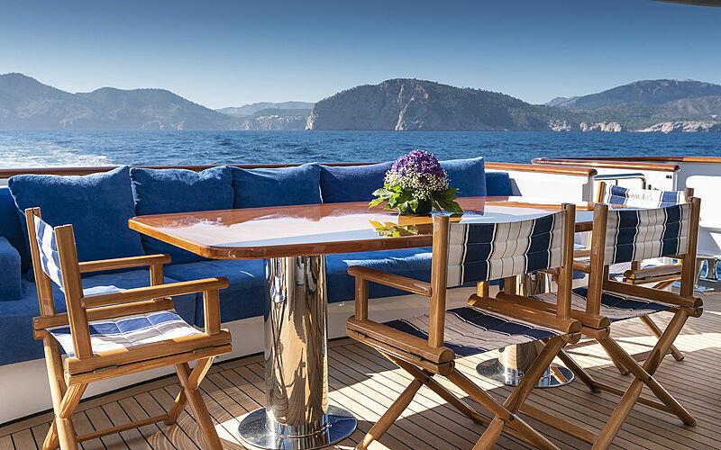 Alcor yacht aft deck