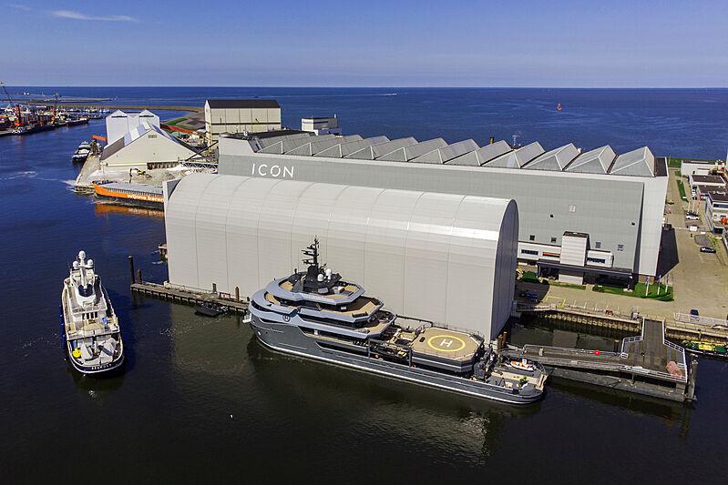Ragnar yacht at icon shipyard
